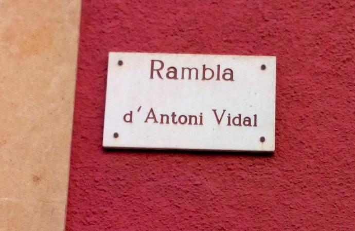 GdC vol que es deslligui el nom d'Antoni Vidal al de La Rambla